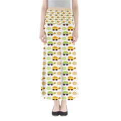 Turtle Green Yellow Flower Animals Maxi Skirts