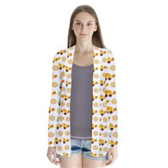 Turtle Green Yellow Flower Animals Cardigans
