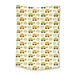 Turtle Green Yellow Flower Animals Small Tapestry