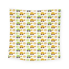 Turtle Green Yellow Flower Animals Square Tapestry (small)