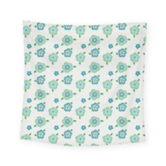 Valentine Chevron Papers Flower Floral Green Flowering Square Tapestry (small)