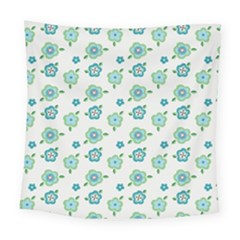 Valentine Chevron Papers Flower Floral Green Flowering Square Tapestry (large)