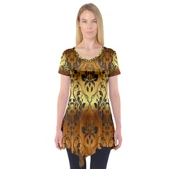 Vintage Gold Gradient Golden Resolution Short Sleeve Tunic