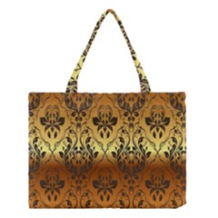 Vintage Gold Gradient Golden Resolution Medium Tote Bag