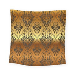 Vintage Gold Gradient Golden Resolution Square Tapestry (small)