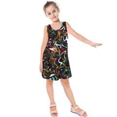Wave Zig Zag Kids  Sleeveless Dress