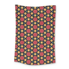 Tiling Flower Star Red Small Tapestry