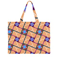 Wallpaper Overlaid Brown Line Purple Blue Box Large Tote Bag