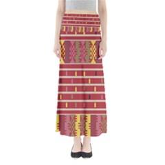 Woven Fabric Pink Maxi Skirts