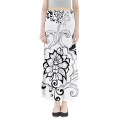 Free Floral Decorative Maxi Skirts