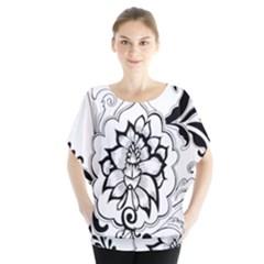 Free Floral Decorative Blouse