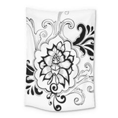 Free Floral Decorative Small Tapestry