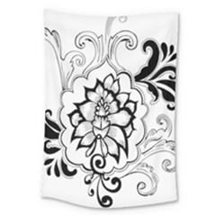 Free Floral Decorative Large Tapestry