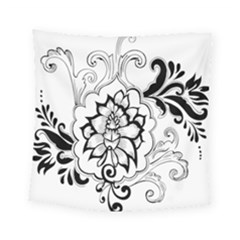Free Floral Decorative Square Tapestry (small)