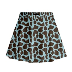 Giraffe Skin Animals Mini Flare Skirt