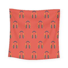 Headphones Red Square Tapestry (small)