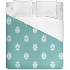 Geometric Snowflake Retro Snow Duvet Cover (california King Size)