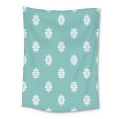 Geometric Snowflake Retro Snow Medium Tapestry
