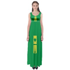 Heart Love Paris Eiffel Tower Perancis Empire Waist Maxi Dress