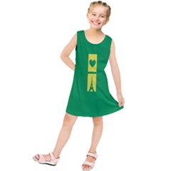 Heart Love Paris Eiffel Tower Perancis Kids  Tunic Dress