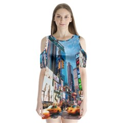 New Years Eve Petronas Towers Kuala Lumpur Malaysia Shoulder Cutout Velvet  One Piece