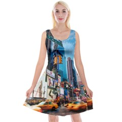 New York City Reversible Velvet Sleeveless Dress