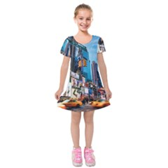 New York City Kids  Short Sleeve Velvet Dress