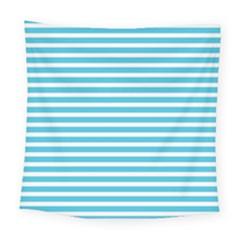 Horizontal Stripes Blue Square Tapestry (large)