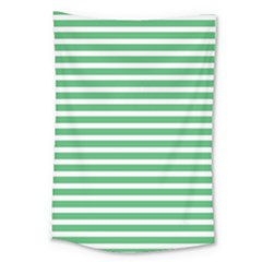 Horizontal Stripes Green Large Tapestry