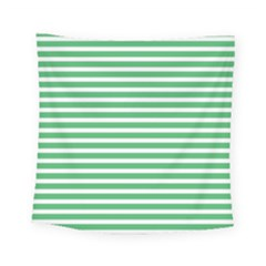 Horizontal Stripes Green Square Tapestry (small)