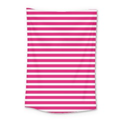 Horizontal Stripes Hot Pink Small Tapestry