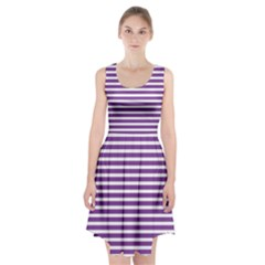 Horizontal Stripes Purple Racerback Midi Dress