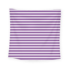 Horizontal Stripes Purple Square Tapestry (small)
