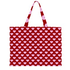 Hearts Love Valentine Pink Day Happy Wallpaper Large Tote Bag