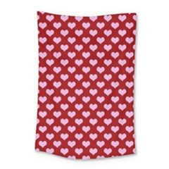 Hearts Love Valentine Pink Day Happy Wallpaper Small Tapestry