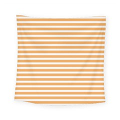 Horizontal Stripes Orange Square Tapestry (small)
