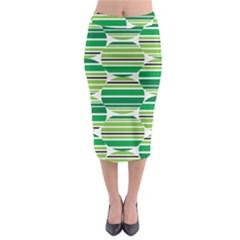 Mint Green Midi Pencil Skirt