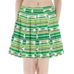 Mint Green Pleated Mini Skirt