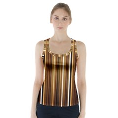 Line Brown Racer Back Sports Top