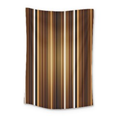 Line Brown Small Tapestry