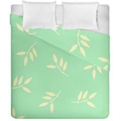 Pastel Leaves Duvet Cover Double Side (california King Size)