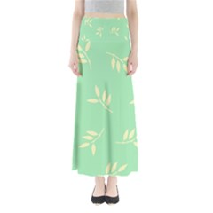 Pastel Leaves Maxi Skirts