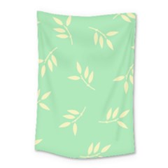 Pastel Leaves Small Tapestry