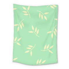 Pastel Leaves Medium Tapestry