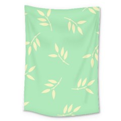 Pastel Leaves Large Tapestry