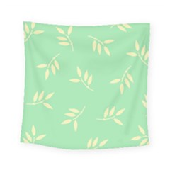 Pastel Leaves Square Tapestry (small)