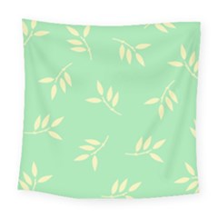 Pastel Leaves Square Tapestry (large)