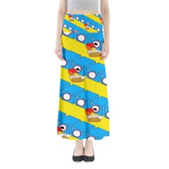 Machine Washing Clothes Blue Yellow Dirty Maxi Skirts