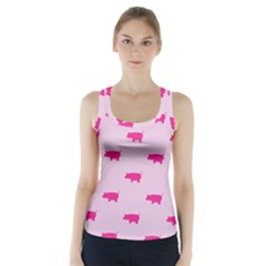 Pig Pink Animals Racer Back Sports Top