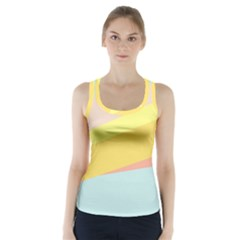 Pink Green Yellow Line Flag Racer Back Sports Top
